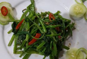 Stir fry Water Spinach with Fermented Tofu
