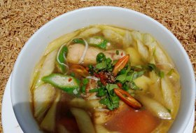 Sweet and Sour Soup with fish/chicken