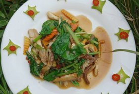 Stir fry Vegetables with Ginger ,Lemongrass sauce