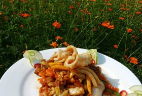 Stir fry Calamari with Xo Sauce