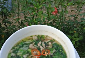 Combination Vegetables soup with Pork Minced