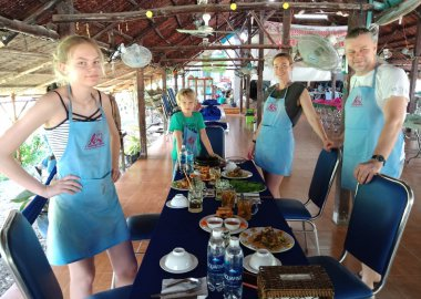 Exploring Vietnamese Cuisine with cu chi Tunnels with Lovely Family
