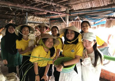 Team Building farming with lovely Student from Singapore